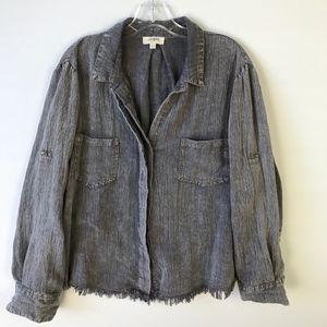 Umgee Oversized Button Down Shirt #1427